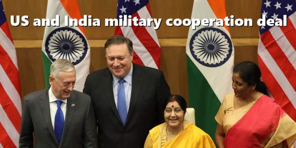 USA AND INDIA INK MILITARY AGREEMENT; CONDUCT INFANTRY EXERCISE NEAR CHINA'S BORDER