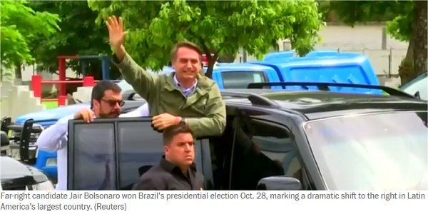 BRAZIL REJECTS GLOBALISM; ELECTS NATIONALIST