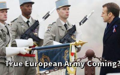 """MACRON CALLS FOR AN EU MILITARY AND A NEW EU """"EMPIRE"""""""