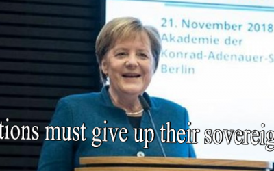 """GERMANY'S MERKEL: NATION STATES MUST """"GIVE UP THEIR SOVEREIGNTY"""""""