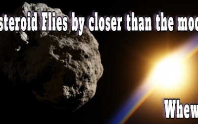 UNEXPECTED ASTEROID MISSES EARTH IN A NEAR MISS