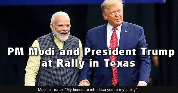 TRUMP-MODI RALLY IN TEXAS HIGHLIGHTS GROWING US-INDIA ALLIANCE