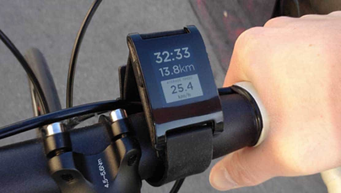 pebble smart watch for cyclists