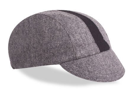 walz cap grey black wool racing stripe