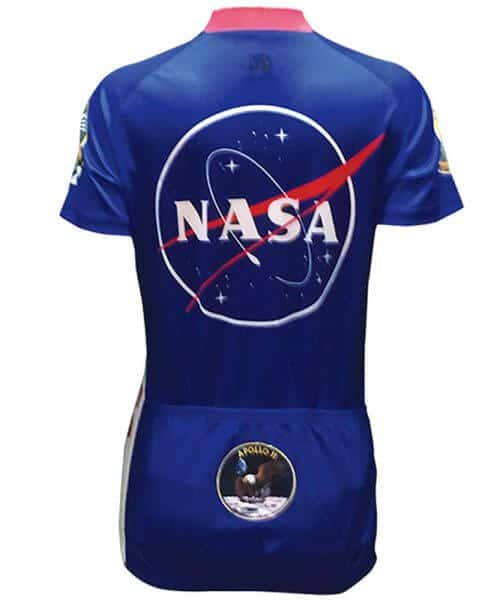 Retro Cycling Jersey Womens - NASA - Retro Image Apparel - back