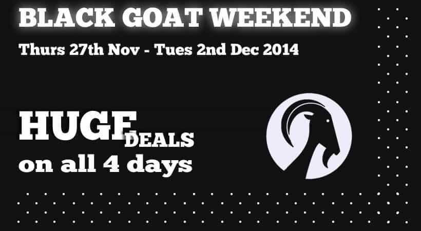 black friday cyber monday cycling fun - black goat weekend