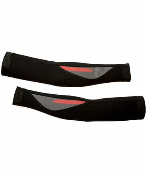 orkaan cycling arm warmers by stolen goat - red