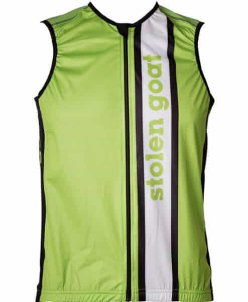 Bodyline packable cycling gilet windproof - stolen goat - team green