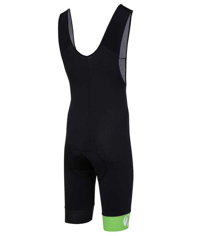 stolen goat bodyline one bibshorts green back