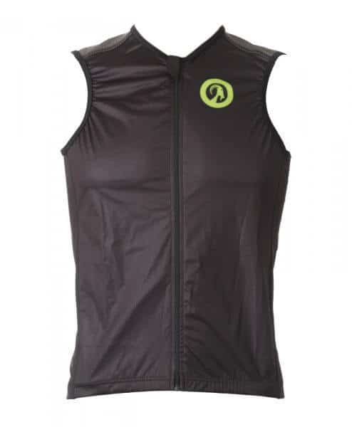stolen goat bodyline windproof gilet speed green front