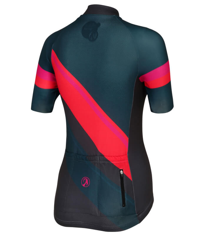stolen goat slipstream red short sleeve ladies cycling jersey back