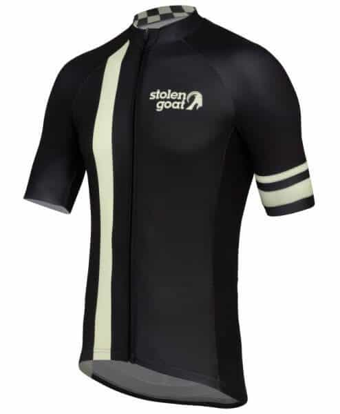 stolen goat Pro Black short sleeve cycling jersey side