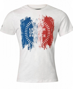 le tour de france t-shirt white mens cycling front