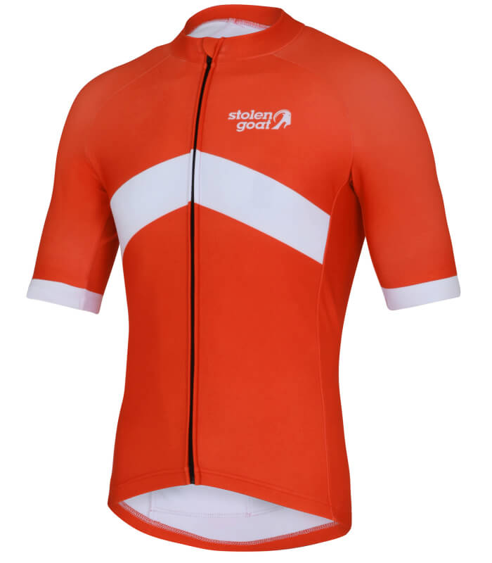 orkaan everyday waterproof cycling jersey ss orange