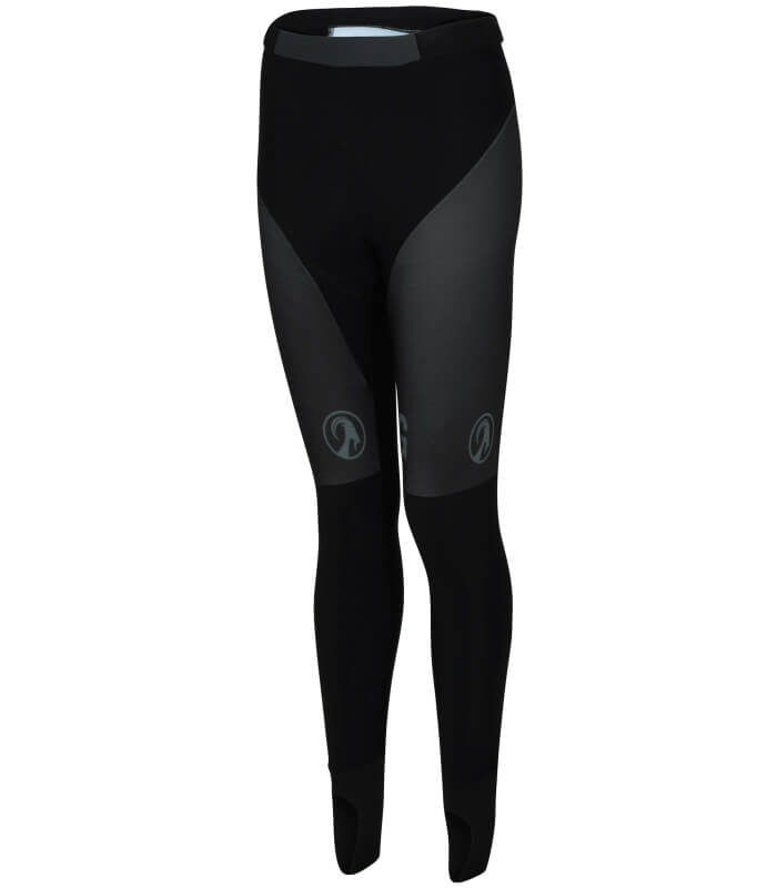 ladies no bib cycling tights black - orkaan womens - front