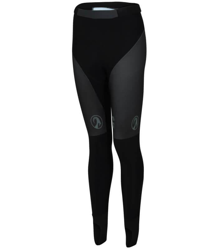 ladies no bib cycling tights black - orkaan womens - front