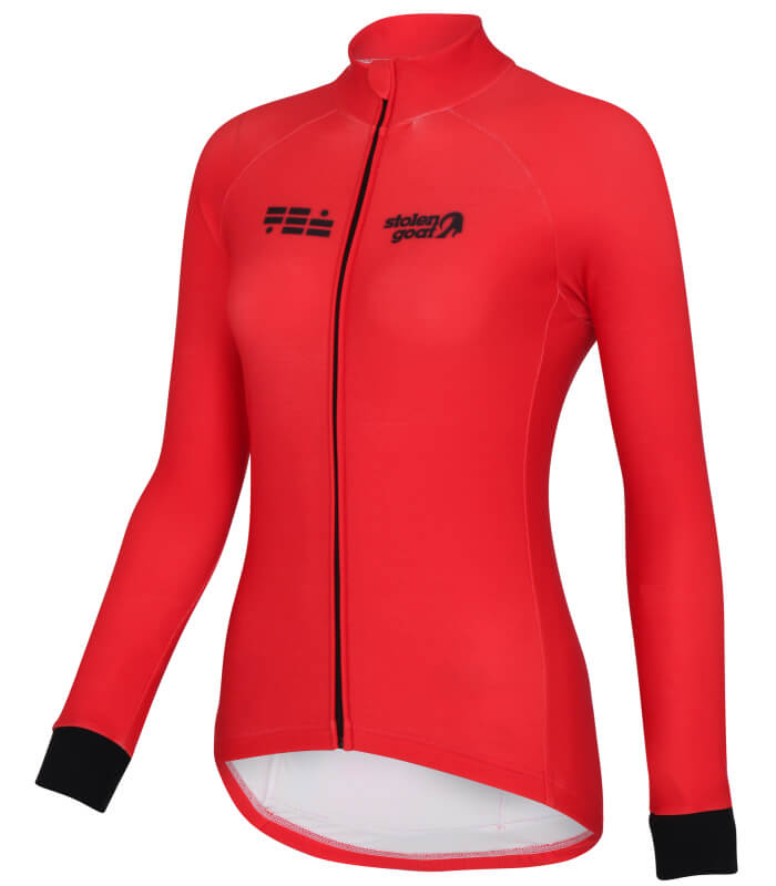 orkaan everyday womens cycling jersey ls red