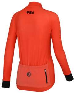 orkaan everyday womens cycling jersey ls orange back