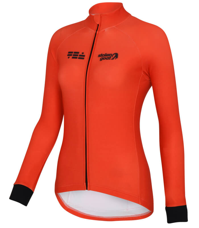 orkaan everyday womens cycling jersey ls orange