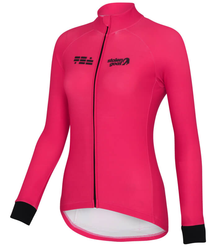 orkaan everyday jersey ls pink front ladies