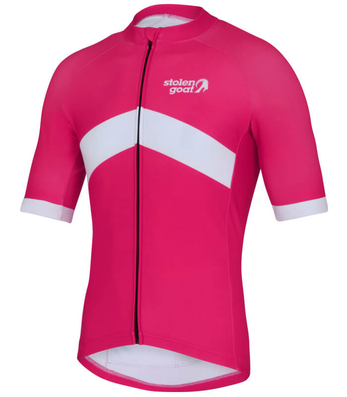 orkaan everyday waterproof cycling jersey ss pink