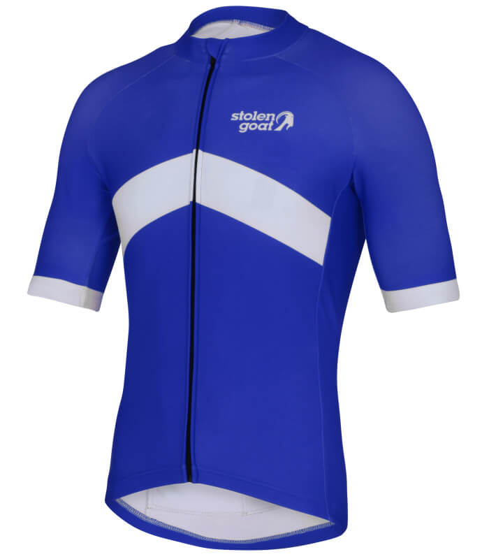 orkaan everyday waterproof cycling jersey ss blue