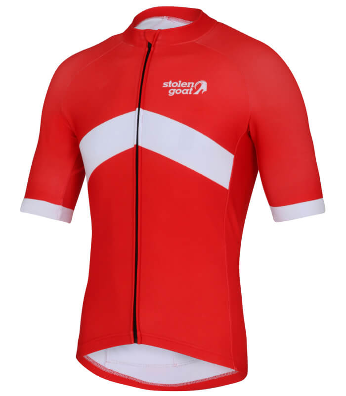orkaan everyday waterproof cycling jersey ss redback