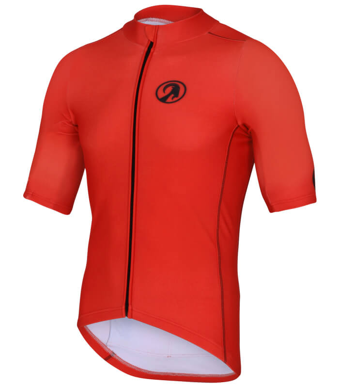 orkaan race tech waterproof cycling jerseys mens red front
