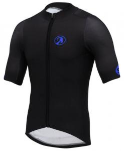 orkaan race tech waterproof cycling jerseys mens blue black front