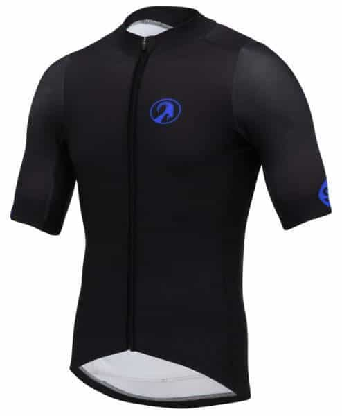 orkaan race tech waterproof cycling jerseys mens blue black front