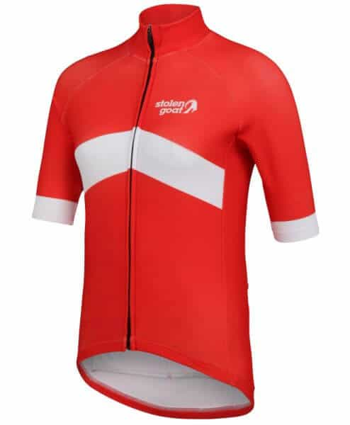 orkaan everyday waterproof cycling jersey ss ladies red front