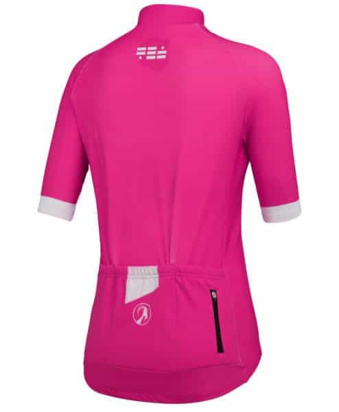 orkaan everyday waterproof cycling jersey ss ladies pink back