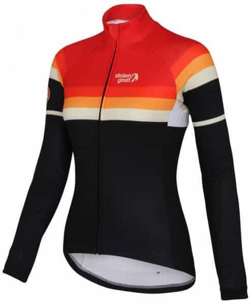 winter sun womens long sleeve thermal cycling jersey front