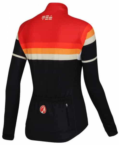 winter sun womens long sleeve thermal cycling jersey back