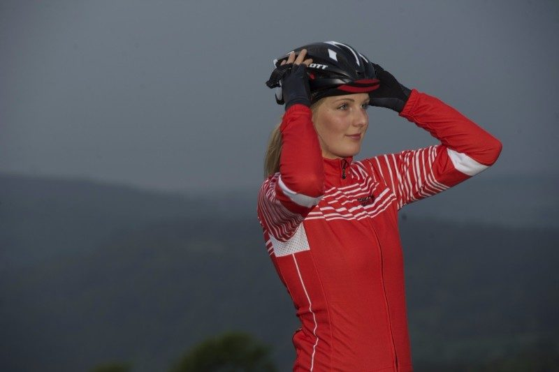 thermal long sleeve cycling jersey for women and men