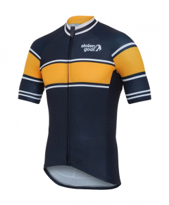 mens retro navy cycling jersey top