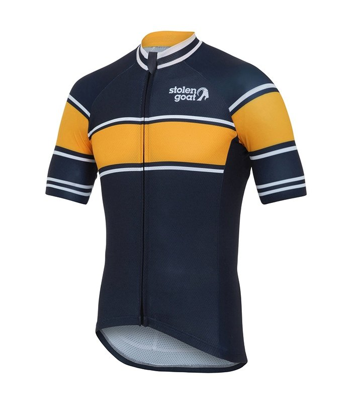 mens retro navy cycling jersey top