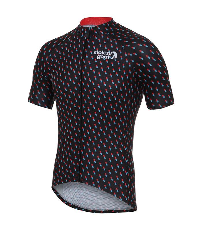 stolen goat pharmacy kitdoping mens cycling jersey