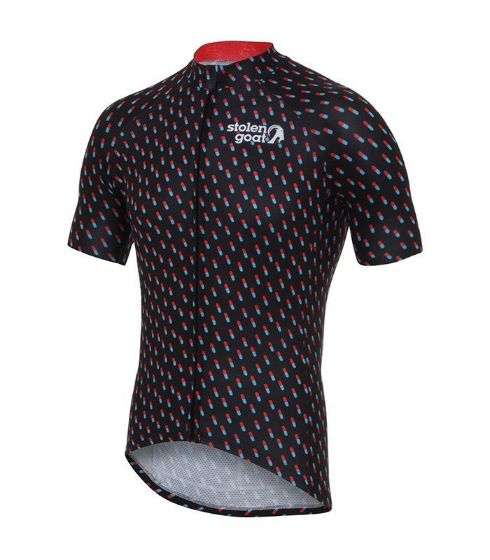 stolen goat pharmacy kitdoping mens cycling jersey