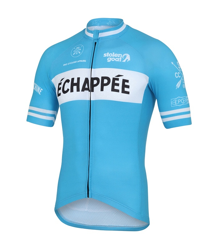 4d4f1984a Buy Stolen Goat Men s Limited Edition - Echappee Blue Cycling Jersey