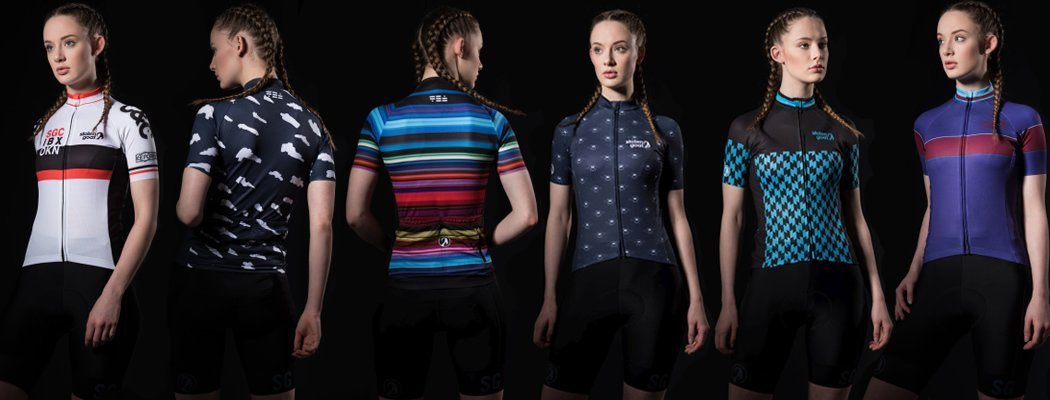 womens cycling jersey tops - limited edition by sg