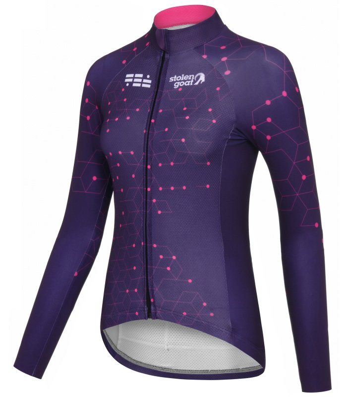 Intergalactic-long-sleeve-cycling-jersey-front