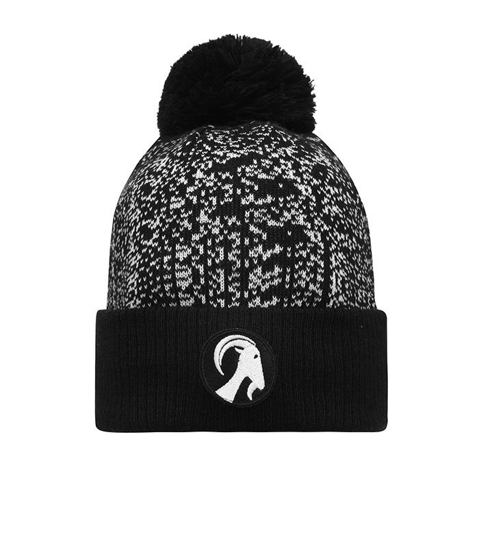 Buy Stolen Goat Beanie Hat With Bobble - Black  White a7546930384