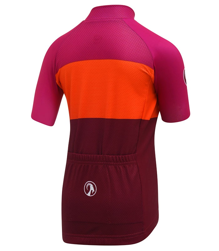 stolen goat industry orange brights kids cycling jersey