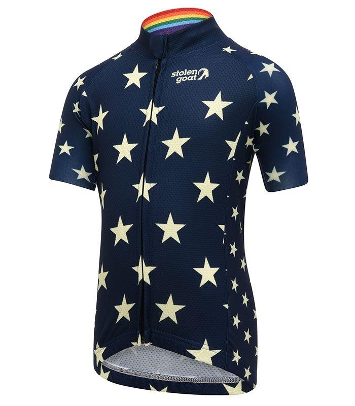 stolen goat stargazer kids cycling jersey