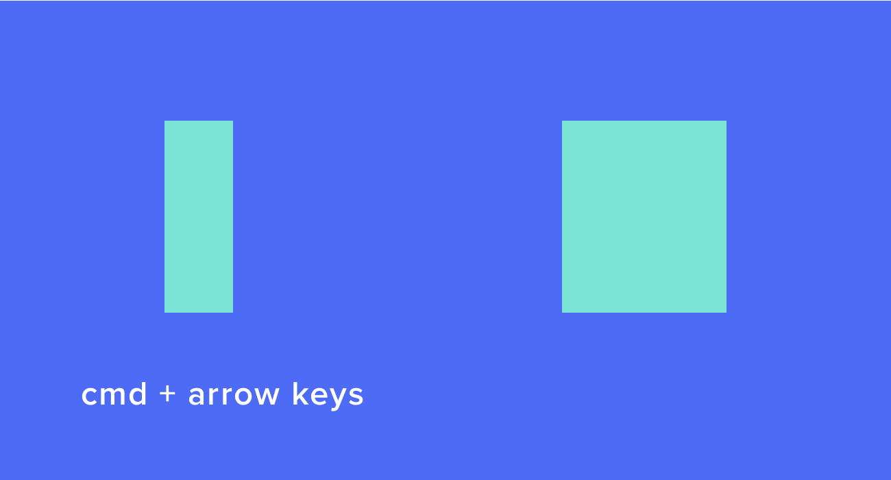 Resize shapes using keyboard shortcuts