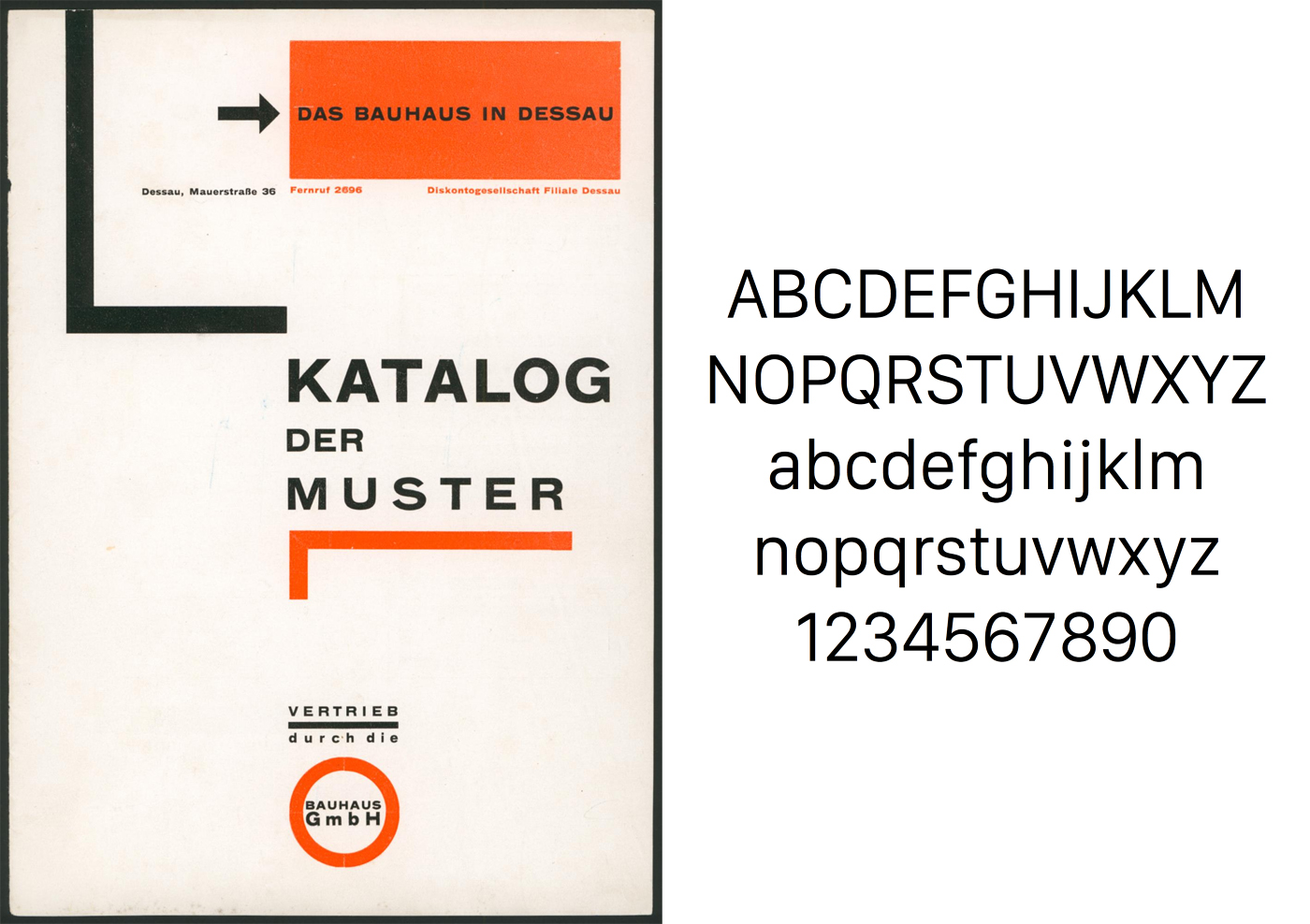 Bauhaus typeface and Apple's San Francisco font