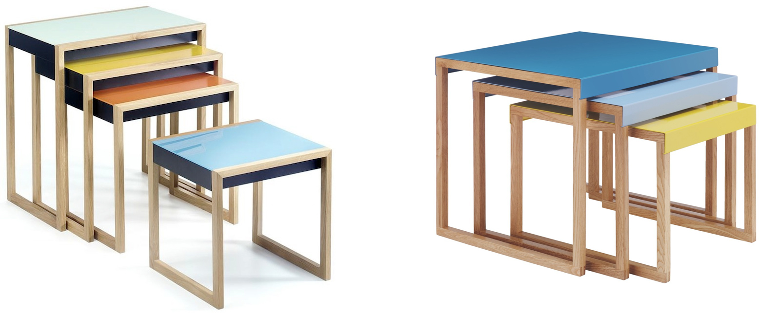 Josef Albers' Bauhaus nesting tables, and a version available today