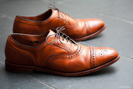 These are Allen Edmonds shoes, they exude style. (Photo credit: Lithic Goods)