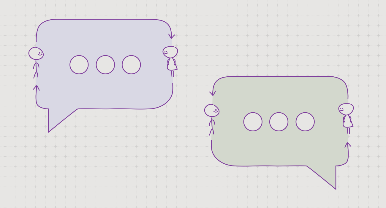 Mentor Feedback Flow Chat Bubbles Illustration